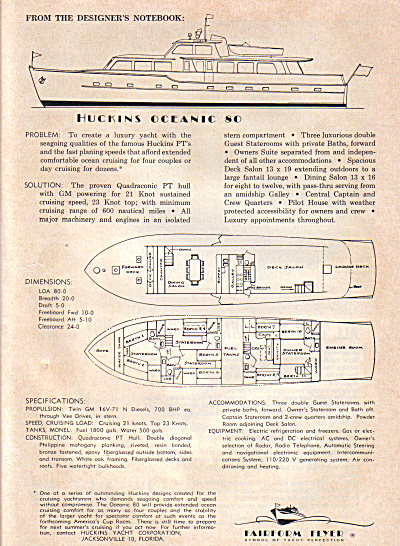 1963 FAIRFORM FLYER HUCKINS 80 BOAT AD (Image1)