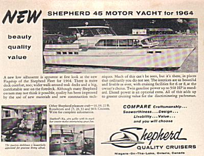 1964 Shepherd 45 Motor Yacht Cabin Cruiser AD (Image1)