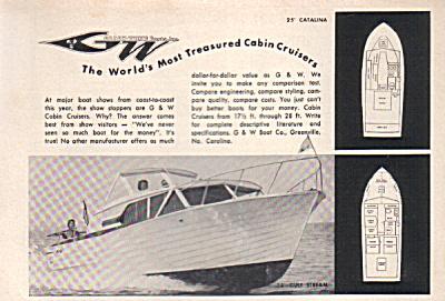 1963 GW Grady White Cabin Cruiser Boat AD (Image1)
