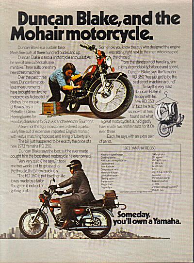 1973 Yamaha RD350 Motorcycle AD Duncan Blake (Image1)