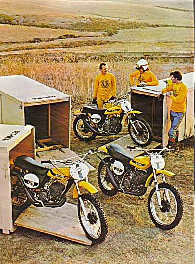 1973 SUZUKI TM400 TM250 TM125 Motorcycle AD (Image1)