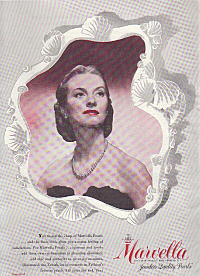 1946 Marvella JEWELERS PEARLS Zenith AD (Image1)