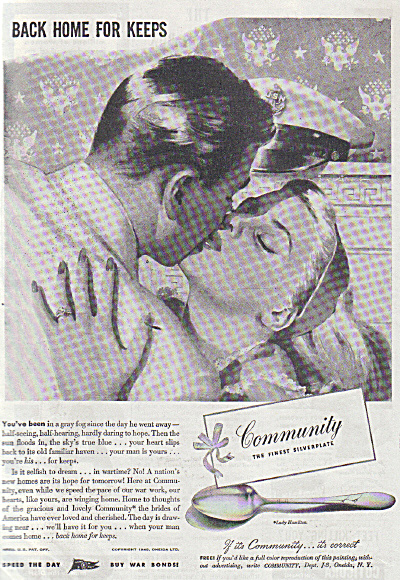 WWII USN Sailor HOME FOR KEEPS Community AD (Image1)