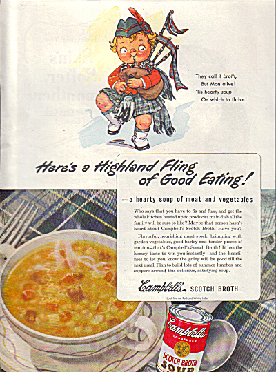 1945 Highland Fling Scottish Campbell's Ad