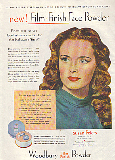1945 Woodbury SUSAN PETERS Actress AD (Image1)
