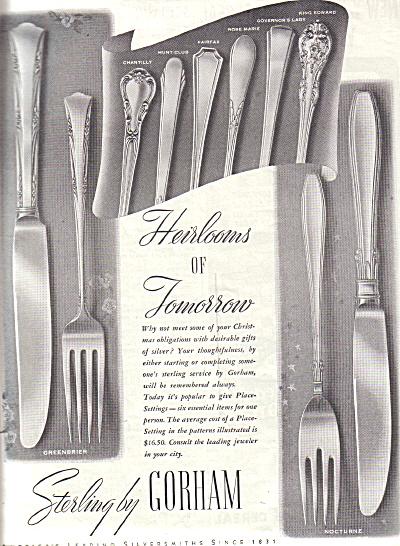 1938 GORHAM Sterling Silver Nocture + AD Patt (Image1)