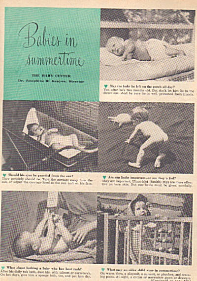 1946 BABIES IN SUMMERTIME Nude CUTE Article (Image1)