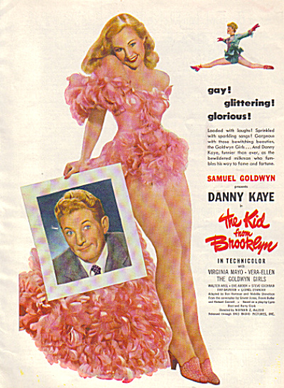 1946 Movie Ad The Kid from Brooklyn Danny Kay (Image1)