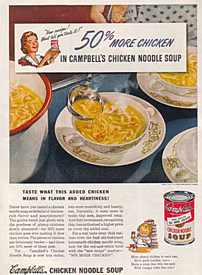 1942 CAMPBELL'S Chicken Noodle Soup Wartime A (Image1)