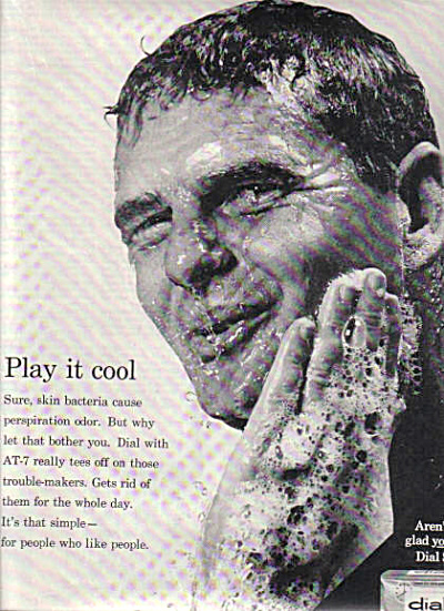 1964 Man In Shower Dial Soap AD (Image1)
