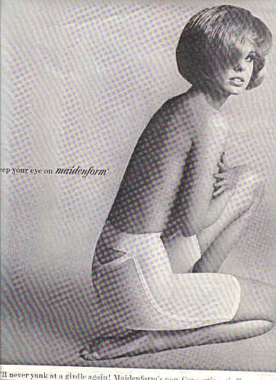 1964 Maidenform Concertina Girdle Sexy Ad (Image1)