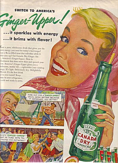 1954 Canada Dry GINGER UPPER Soda AD (Image1)
