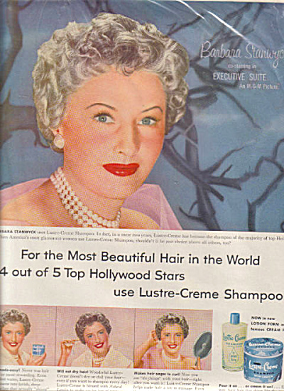 1954 BARBARA STANWYCK Lustre Creme AD (Image1)