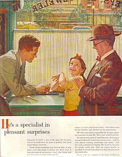 1954 Norman Rockwell ART Watch AD Print (Image1)
