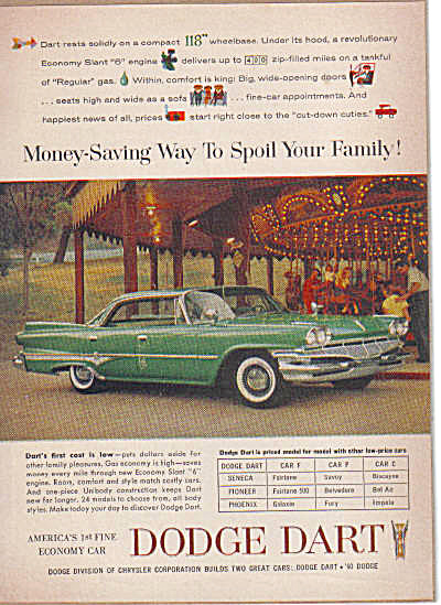 1960 Dodge DART Slant 6 Car AD Merry Go Round (Image1)