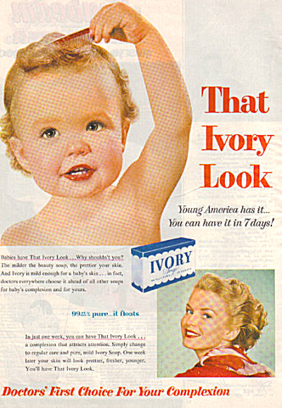 1954 Ivory Soap Beautiful Baby Vintage Ad