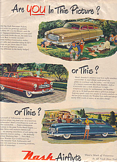 1950 NASH Airflyte Rambler 3 Model Car AD (Image1)