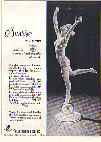 1955 Hutschenreuther SUNRISE NUDE Tutter AD (Image1)