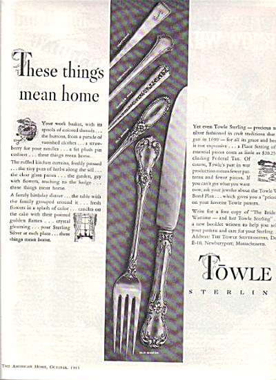 1943 TOWLE Sterling Silver AD 5 Patterns (Image1)