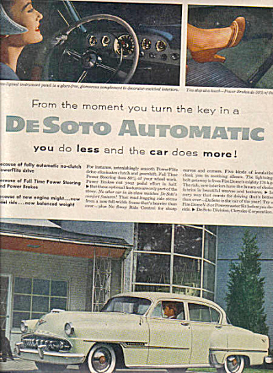 1954 Dodge DeSoto Fire Dome V8 Car Ad (Image1)