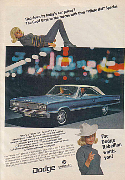 1967 Dodge Coronet 440 Good Guys White Hat Ad (Image1)