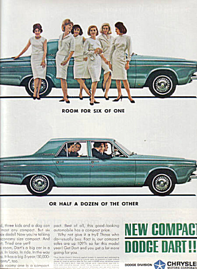 1963 Dodge Dart Compact AD 6 WOMEN 6 MEN (Image1)