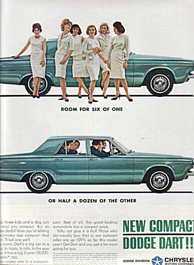 1963 Dodge Dart Compact AD 6 WOMEN 6 MEN (Image1)