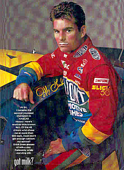 JEFF GORDON NASCAR Signed GOT MILK AD XL (Image1)