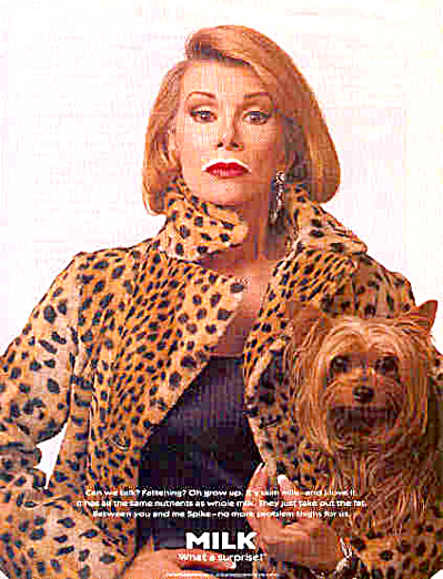 JOAN RIVERS and DOG Got MILK Mustache AD (Image1)
