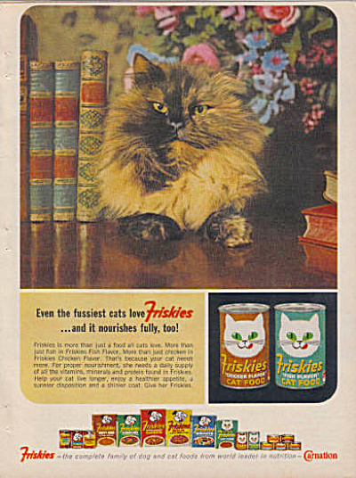 1964 Friskies SIAMESE CAT Food Ad (Image1)