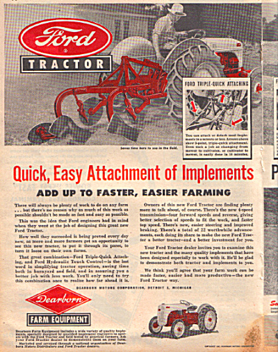 1947 Ford Tractor Implement Farming Farm Ad 2