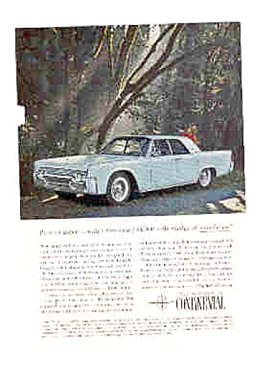 1961 Lincoln Continental Pure Elegance Ad (Image1)