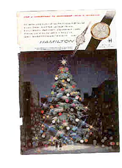 1960 Hamilton Watch Christmas Ad (Image1)
