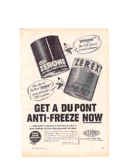 1951 Dupont Anti-Freeze Ad (Image1)