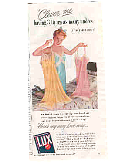 1947 Sexy Lady With Lingerie  Lux Ad (Image1)