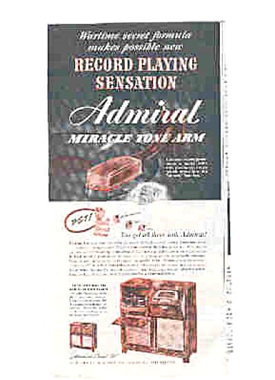 1947 Admiral FM Radio-Phonograph Ad (Image1)