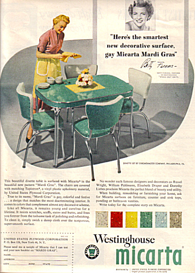 1953 MICARTA Dinette  Betty Furness Designer (Image1)