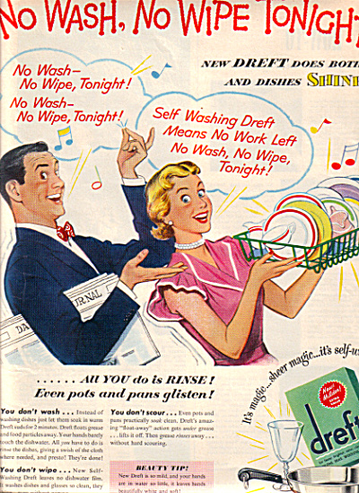 1951 DREFT Gay Couple - No Wipe Tonite AD (Image1)