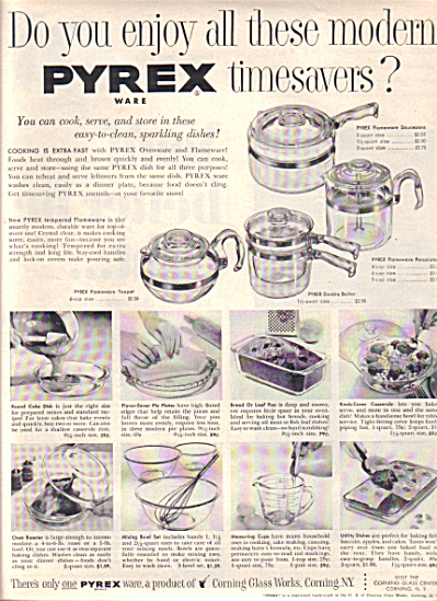 1953 PYREX Glass Flameware Pot - Boiler AD (Image1)