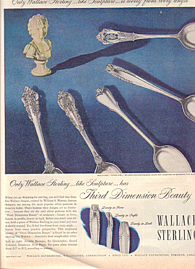 1949 Wallace Sterling 8 MODELS Silverware AD (Image1)