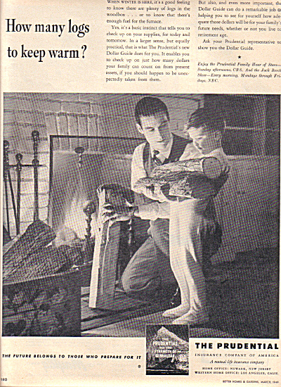 1949 Prudential Insurance Father - Son Ad