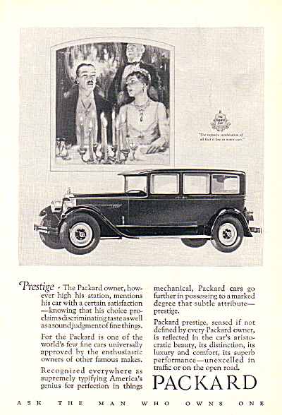 1927 PACKARD Elegant Car Ad ORIGINAL (Image1)