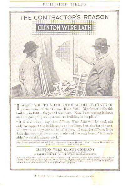 1917 Laurel - Hardy Clinton Wire Lath AD (Image1)