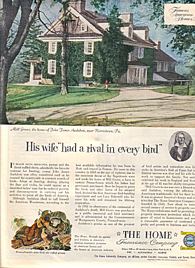 1953 Home Insurance Company Mill Grove Pa Ad