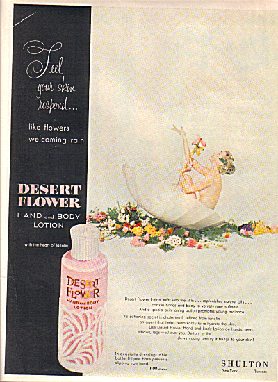 1953 DESERT FLOWER Nude in Umbrella AD (Image1)