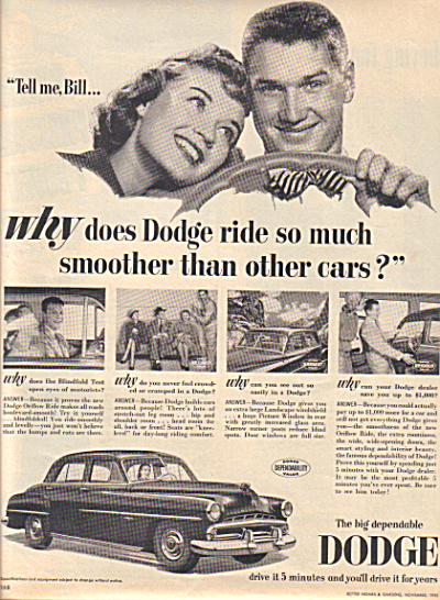 1951 Dodge Lovers BILL Automobile Car AD (Image1)