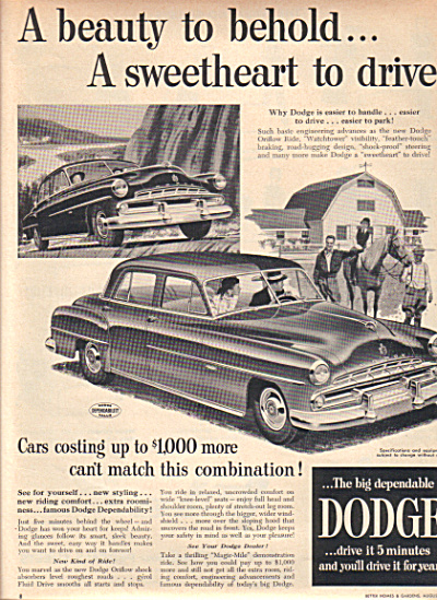 1951 DODGE Sweetheart Horse Farm Car AD (Image1)
