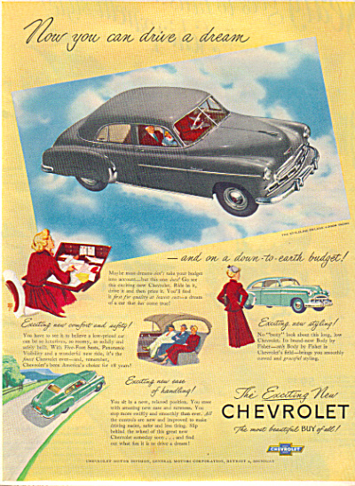 1949 Chevrolet STYLELINE DELUXE Sedan Car AD (Image1)