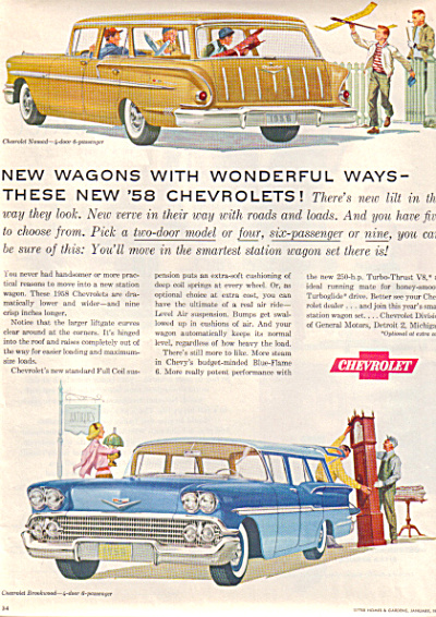 1958 Chevrolet CHEVY Nomad Brookwood Car AD (Image1)