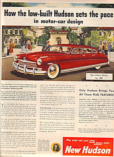 1949 HUDSON Low Built Univserity Car AD (Image1)